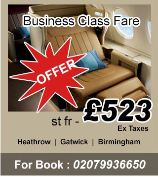 business class fares, book business class tickets