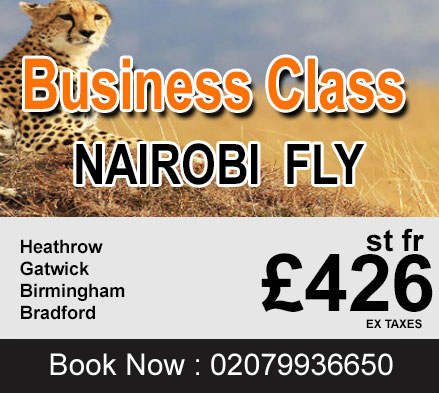 business class flights fare, business class tickets to Nairobi
